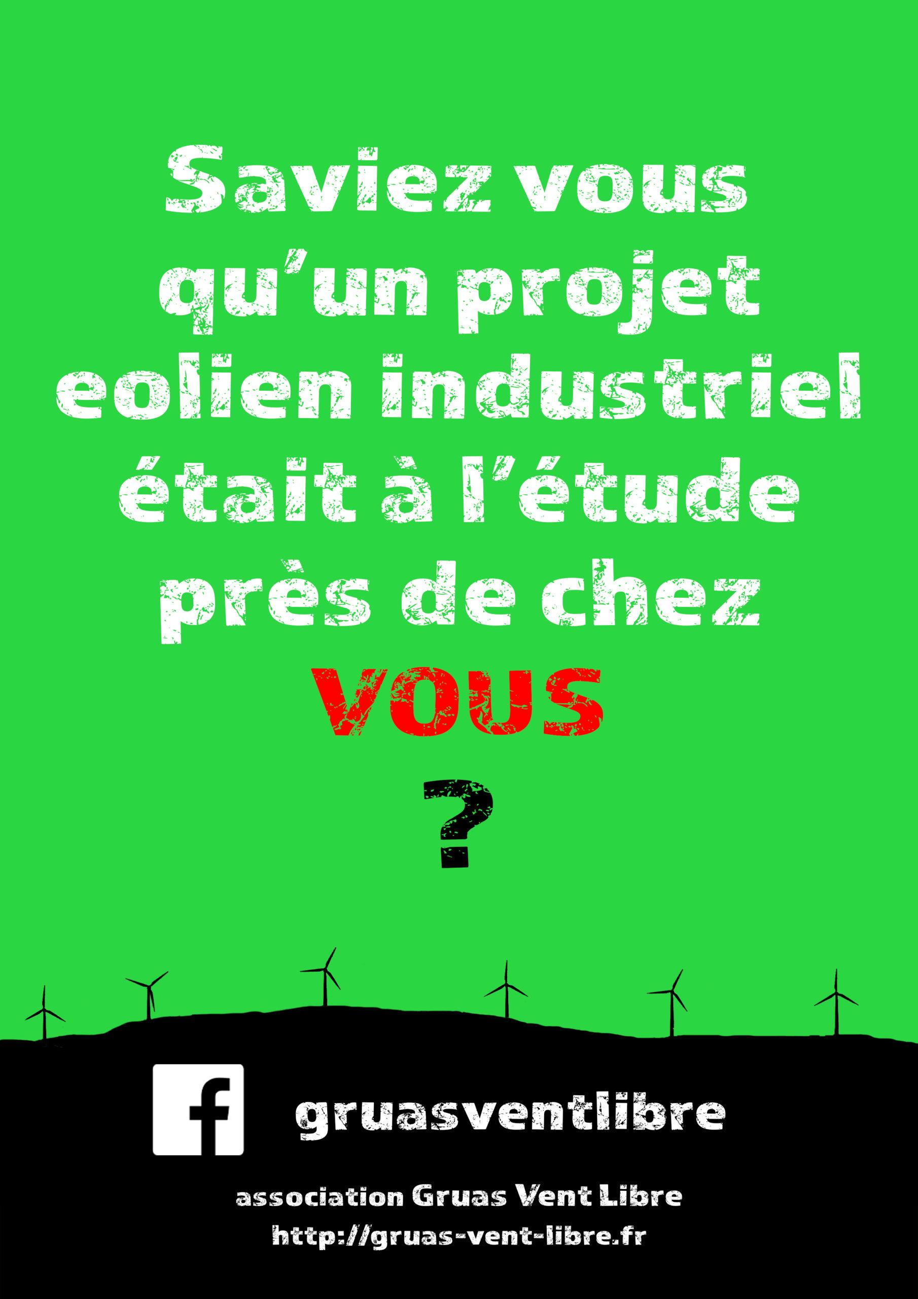 Saviez vous qu'un projet éolien est à l'étude près de chez vous ?